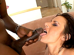 Moxxie Maddron fucked by big black cock before swallowing down a huge load of cum